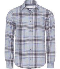 camisa masculina xadrez anaruga - cinza