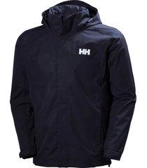 men's helly hansen dubliner water & wind proof hooded jacket, size xx-large - blue