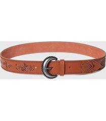 cinturón plain colors marrón desigual