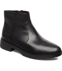 maria bootie lthr shoes boots ankle boots ankle boots flat heel svart fitflop