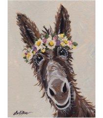 """hippie hound studios donkey rufus flower crown canvas art - 15"""" x 20"""""""