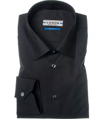 ledub overhemd dress zwart tailored fit
