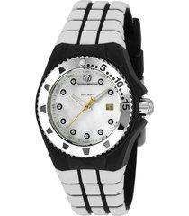 reloj technomarine tm-115221 blanco silicona