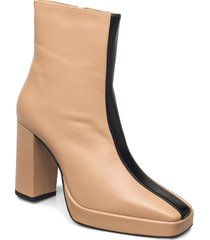 crossing the line ankle boot shoes boots ankle boots ankle boot - heel beige anny nord