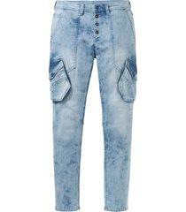 jeans elasticizzati loose fit tapered (blu) - rainbow