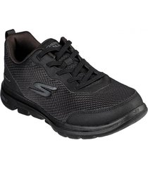 zapatos mujer  go walk 5 - guardian negro skechers