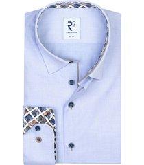 lichtblauw overhemd extra lange mouwen r2