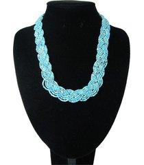 collar artesanal azul sasmon cl-12371