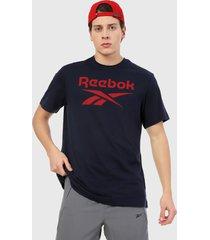 camiseta azul-rojo reebok stacked