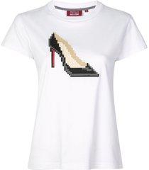 mostly heard rarely seen 8-bit stiletto t-shirt - white
