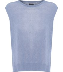 blusa feminina knit - azul