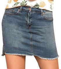 falda jenny azul para mujer croydon