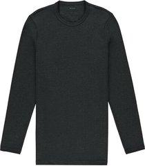maglia manica lunga girocollo cotone termico