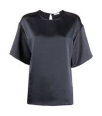 p.a.r.o.s.h. camiseta com acabamento de cetim - preto