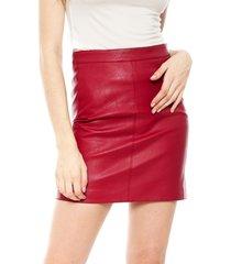 falda pepe jeans rojo - calce ajustado