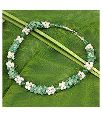cultured pearl beaded necklace, 'divine feminine' (thailand)