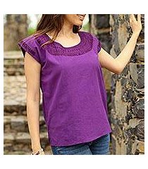 cotton blouse, 'royal fiesta' (mexico)