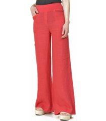 pantalón lino italiano rojo bous