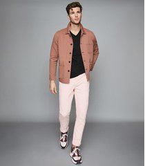 reiss spruce - slim fit jeans in pink, mens, size 38