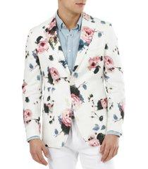 tallia men's slim-fit floral linen blazer