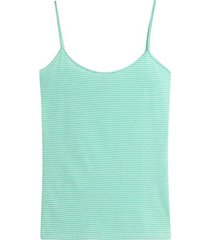 top tiras a rayas color verde, talla 8
