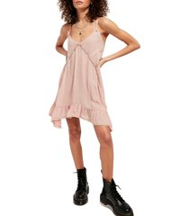 women's free people sway with me trapeze tunic dress, size small - pink