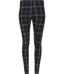 leggings largo estampado color negro, talla s