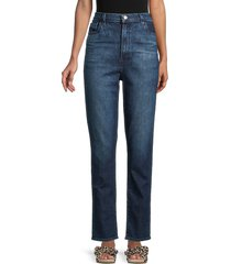 j brand women's runway high-rise straight jeans - amica - size 23 (00)