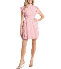 cece floral ruffled a-line dress