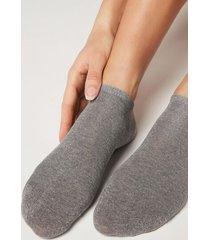 calzedonia short cotton socks woman grey size tu