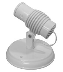 spot de sobrepor para 1 lâmpada poplux branco