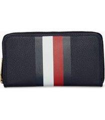 tommy hilfiger women's large stripe wallet navy/ global stripe -