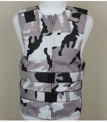 snow camo - cordura - bulletproof style motorcycle vest