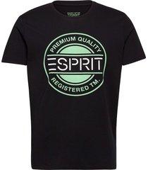 t-shirts t-shirts short-sleeved svart esprit casual