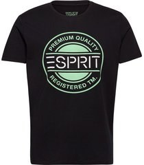 t-shirts t-shirts short-sleeved svart esprit casual