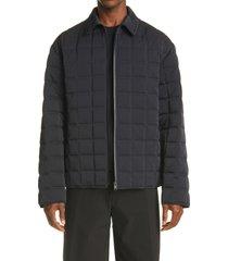 men's bottega veneta quilted tech jacket, size x-large - black