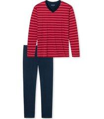 schiesser pyjama met v-hals rood