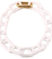 off-white chain necklace white