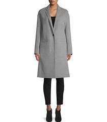 notch-lapel wool-blend coat