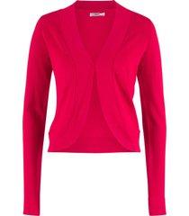 bolero in maglia a maniche lunghe (rosso) - bpc bonprix collection
