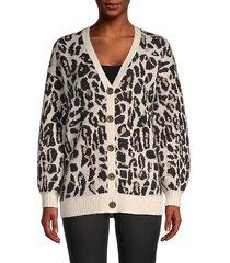 leopard-print cardigan