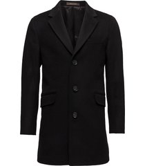 saks coat outerwear coats wool coats zwart oscar jacobson