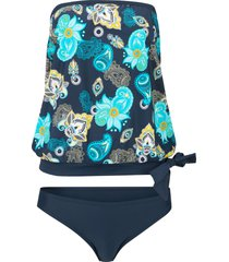 tankini oversize (set 2 pezzi) (blu) - bpc bonprix collection