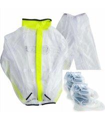 impermeable para moto ciclismo tres piezas traje  reflectivo lluvia