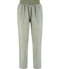 pantaloni in misto lino maite kelly (verde) - bpc bonprix collection