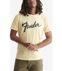 lucky brand men's fender flame t-shirt