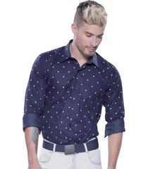 camisa azul oscuro atypical
