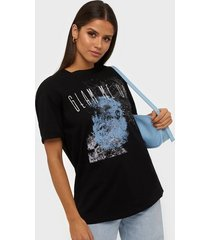 vero moda vmcelina rock s/s t-shirt sb4 t-shirts svart
