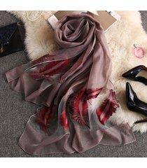 sciarpa oversize estiva da donna vogue voile traspirante 180 * 70cm scialle oversize