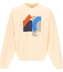 kenzo crewneck sweatshirt with kenzo sport flag print